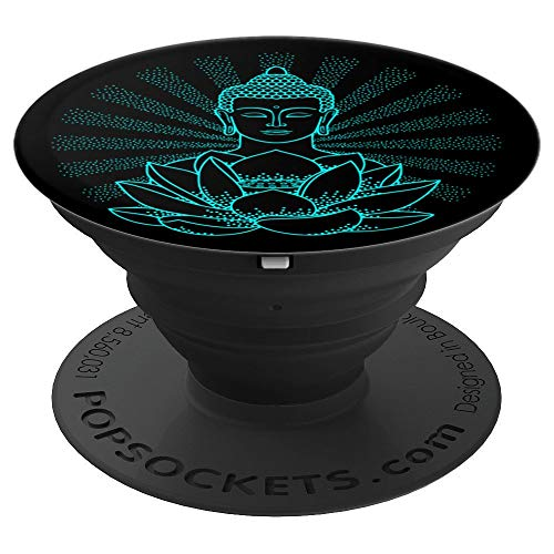 - Buddha Design - Buddha Zen Yoga Spiritual - PopSockets Grip and Stand for Phones and Tablets