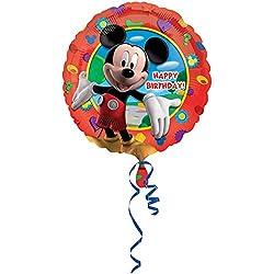 Amscan - Globo redondo de aluminio diseño Disney Mickey Mouse Clubhouse