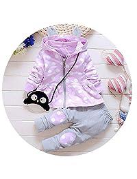 MDFY OEWGRF Girl Suit Casual Cotton Hooded Jacket + Pants 2pcs Baby Newborn Clothing Set