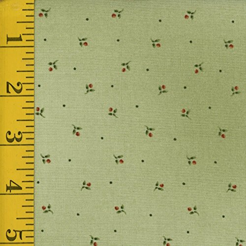 Western Quilting Fabric - Maywood Studio Pioneer Spirit MAS8180-G: Ditsy Flowers - Green ()