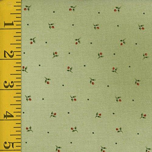 Western Quilting Fabric - Maywood Studio Pioneer Spirit MAS8180-G: Ditsy Flowers - Green ()