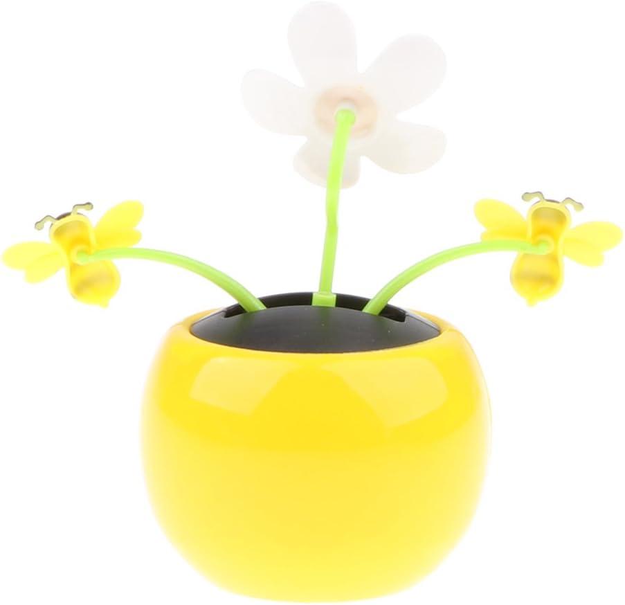 KESOTO 2X Solar Power Flower di Vibrazione del Fiore Accessori Auto per la Casa Ornamento