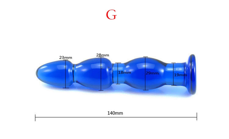 Amazon.com: Blue Glass Ànàl Plug Buttplug Set Ànàl Glass ...