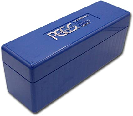 Blue PCGS Box - PCGS Slab Boxes LOT OF EIGHT Coin Slab Storage Used 8