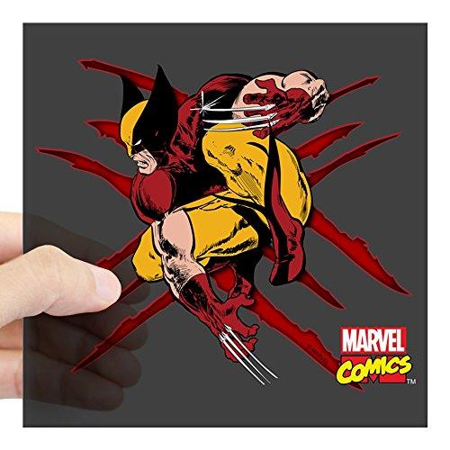 CafePress Wolverine Scratches Square Sticker 3 X 3 Square Bumper Sticker Car Decal, 3