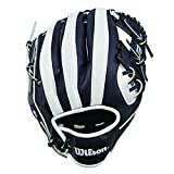 "Wilson A200 10"" Milwaukee Brewers Glove Right Hand Throw, Navy/White"