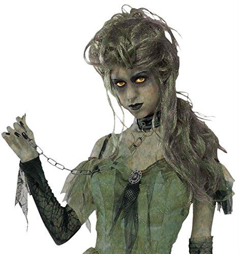 Walking Dead Woman Costume (Zombie Lady Adult Wig Halloween Costume)