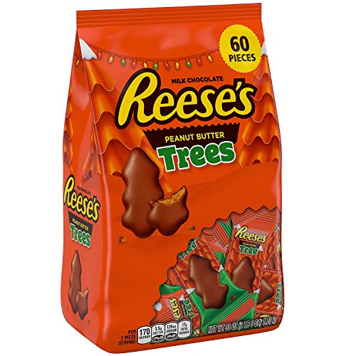 Reese's Holiday Peanut Butter Trees 38 Oz. 60 Pieces, (Pack of 1) (Christmas Cups Reese Tree)