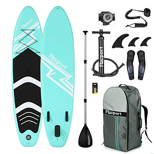 (Premium Inflatable Stand Up Paddle Board (6 inches Thick) with Durable SUP Accessories & Carry Bag | Wide Stance, Surf Control, Non-Slip Deck, Leash, Paddle and Pump , Standing Boat for Youth & Adult)