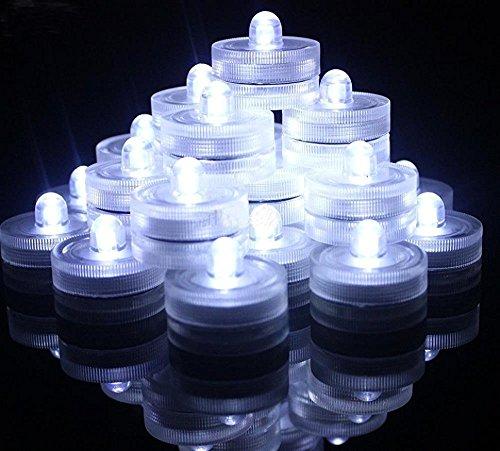 JINHEZO 36 Piece Waterproof Wedding Underwater Battery Sub LED Lights, White