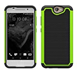 HTC One A9 Cases,Datechip [Shockproof] [Armor Defender] Heavy Duty Cover Case with Mulitple Layer Protective Phone Bumper Cases (HTC One A9 Green)