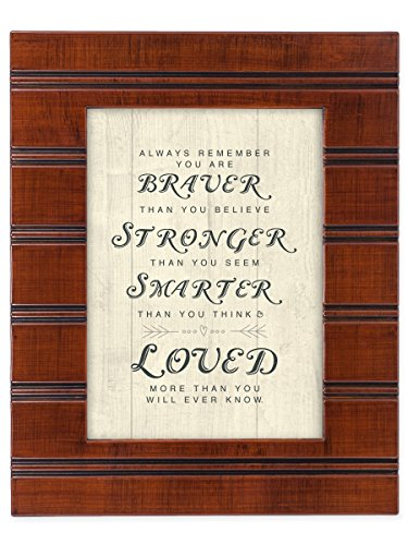 You are Braver, Stonger and Smarter Than You Know Wood Finish 8 x 10 Framed Wall Art Plaque (Plaque Cottage Wall)