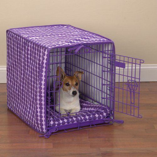ProSelect Crate Pet Cotton Cover and Polyfilled Bed 2-Piece Set, Small, Pink Paisley, My Pet Supplies