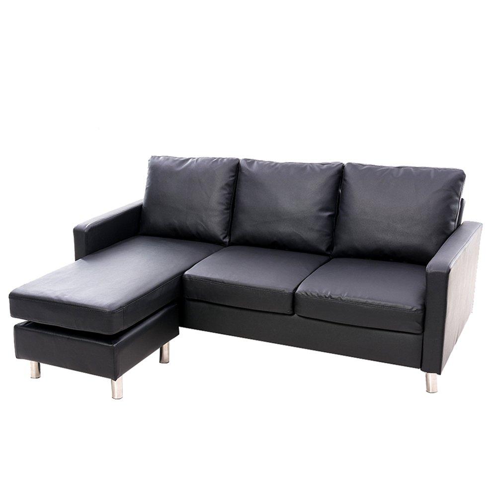 Tuff Concepts Modern Cool Grey Fabric L Shaped Corner Sofa Small 3 ...