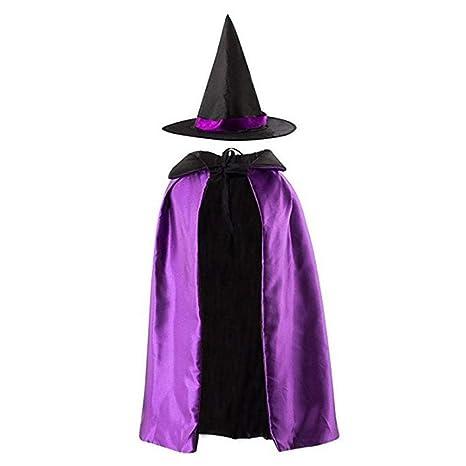 Hmjunboys Halloween Costume Da Strega Stregone Costume da Mago Mantello da  Mago con Cappello per Bambini. Scorri sopra l immagine per ingrandirla b2dd3a89b7a7