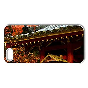Japanese Temple - Case Cover for iPhone 5 and 5S (Religious Series, Watercolor style, White)