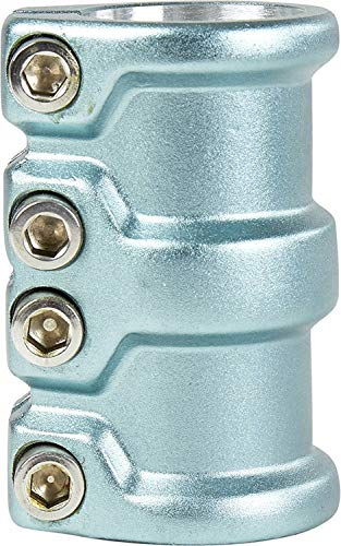 scooter District HT-Series SCS Quad Pro Clamp (Light Blue) (Quad Scooter Clamps Oversized)