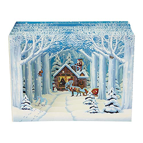 Sanrio Greetings Winter Forest Cottage Pop Up Christmas Card