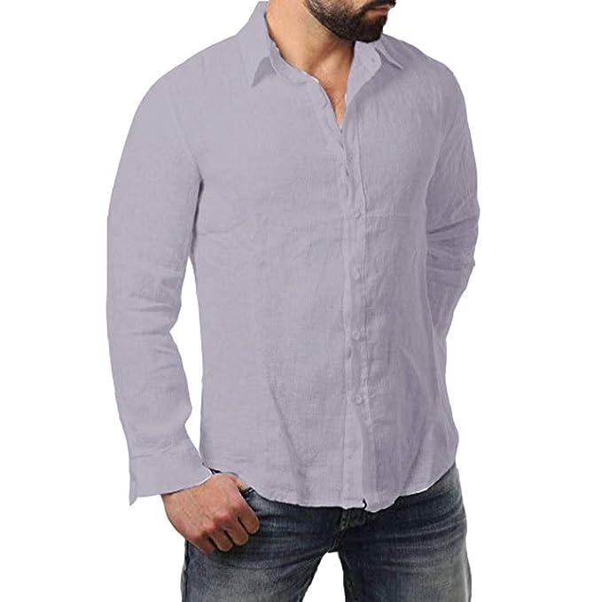 Cebbay Liquidación Camisa Manga Larga Hombre Polo Camisa Casual ...