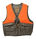 Nickanny's Sportsman Blaze Orange and Tan Youth Kids Field Shell Hunting Vest Fits Snug