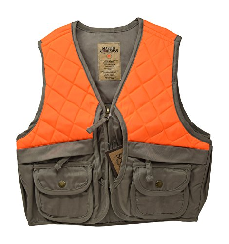 Nickanny's Sportsman Blaze Orange and Tan Youth Kids Field Shell Hunting Vest (Tan/Blaze, Large ()