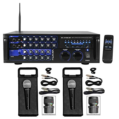 VOCOPRO DA-3700-BT 200w Digital Karaoke Mixer Amplifier w/Bluetooth+(2) Mics