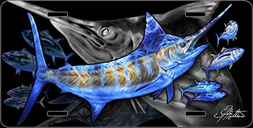 Jason Mathias Blue Marlin Yellowfin Tuna License Vanity Plate