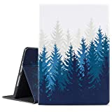 iPad 9.7 2018/2017 Case, iPad Air 2, iPad Air Case, Vimorco Soft TPU Back Cover, Bump Drop Resistance Folio Leather Case, Adjustable Stand Auto Wake/Sleep Smart Case (Forest)