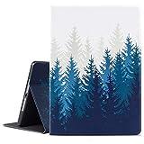 iPad 9.7 2018/2017 Case, iPad Air 2, iPad Air Case, Vimorco Soft TPU Back Cover, Bump Drop Resistance Folio Leather Case, Adjustable Stand Auto Wake/Sleep Smart Case (Forest)