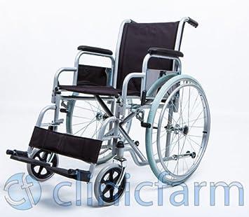 Cochecito Plegable Silla de ruedas para discapacitados y personas mayores Via Independiente tamaños color Asiento 46 cm gálibo máximo 65 cm: Amazon.es: ...
