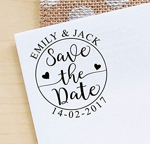 Printtoo Wedding Invitation Favors Stamp Round Custom Self Inking Save The Date Rubber (Round Wedding Invitations)