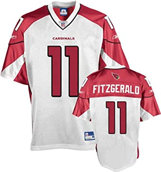 5873ce1d7 Image Unavailable. Image not available for. Color  Reebok Arizona Cardinals  Larry Fitzgerald Youth Replica White Jersey Small