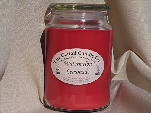Cattail Candle - Watermelon Lemonade - 100% Soy Candle, 24 fl oz