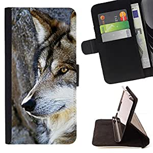For Samsung Galaxy S6 active/G870A/G890A (Not Fit S6) Wol Wild Tree Nature Dog Animal Brown Style PU Leather Case Wallet Flip Stand Flap Closure Cover
