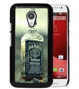 Popular Custom Designed Case For Motorola Moto G 2nd Generation With jack daniels whiskey alcohol bottles 54792 Black Phone Case