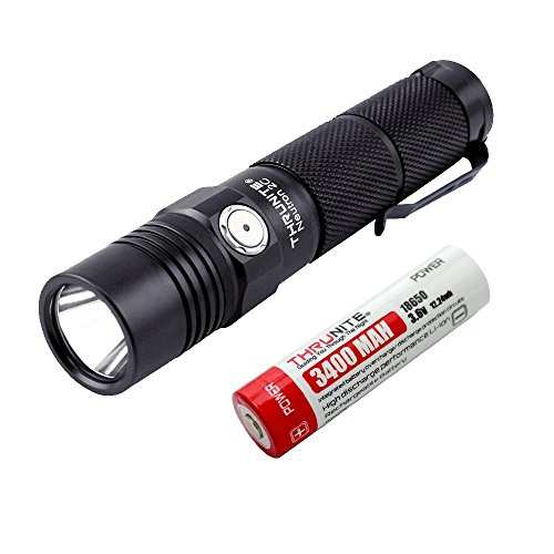 ThruNite Neutron 2C V3 Micro-USB Chargeable LED Flashlight CREE XP-L V6 LED Max 1100 lumens Firefly, Turbo, Strobe Self-Define Modes Battery Included (Neutron 2C V3 Neutral White)