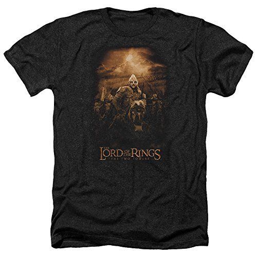 Trevco Men's Lord of The Rings Short Sleeve T-Shirt, Rider Heather Black, Small -