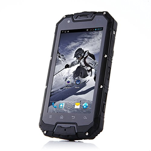 "Bestore(TM) - Snopow M8S Outdoor IP68 Tri-proof Waterproof Dustproof Shockproof MTK6572W 1.3GHz Dual Core 4.5"" IPS 960 x 540 Pixel Screen Android 4.2 512M RAM + 4G ROM 5MP Camera Dual SIM 3G WCDMA unlocked Smartphone (Black)"