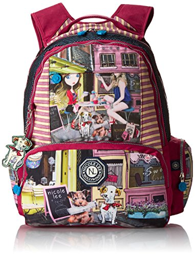 nicole-lee-water-resistant-18-inch-laptop-backpack-series-4-cupcake-girl-one-size