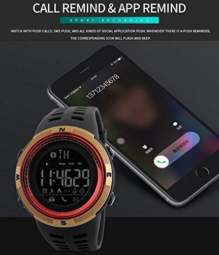 Amazon.com: Mastop Men Outdoor Sport Smart Watch Fashion Digital Watches Fitness Tracker Bluetooth iOS 4.0 Android Waterproof Wristwatch: Watches