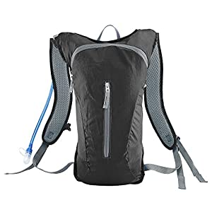Hydration Pack,Ultra Lightweight Water Backpack Includes BPA Free Water Bladder for Running Hiking Riding Camping Cycling Climbing (Black)