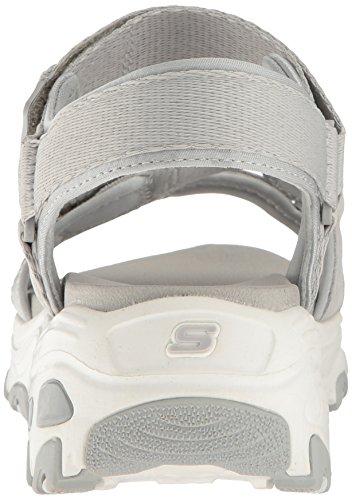 Skechers Sandali Alla Gry grey Con Cinturino D'lites Donna Grigio Caviglia xnrRZrqw