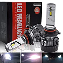 Safego 8000lm 9006 Philips Chip Car LED Headlight Kit Bulbs HB4 Auto Flip LED Conversion Kit 12v 2 Year Warranty Replace for Halogen Lights or HID Bulbs PHL6E-9006