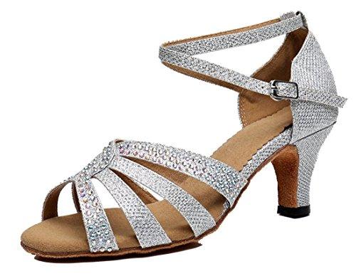 MGM-Joymod - Punta Abierta Mujer Silver/6cm Heel