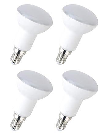 4x Bombilla LED greenandco® IRC 90+ E14 R50 6W (corresponde a 40W)