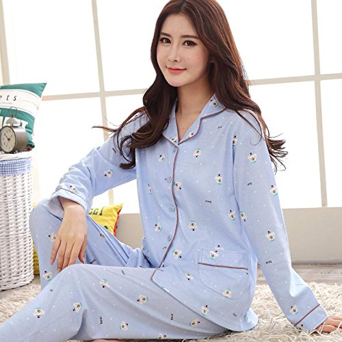 Amazon.com: MH-RITA Women Autumn Winter Pajamas Soft Comfortable Printing Home Suit Women Cotton Pyjama Sleepwear Plus Size Pajamas Woman: Clothing