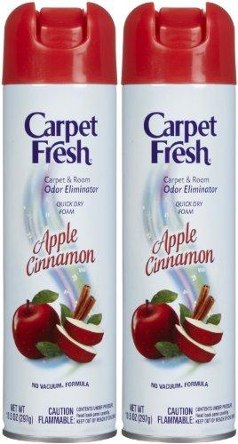 Carpet Fresh No-Vacuum Carpet Cleaner Aerosol, Apple Cinnamon, 10.5-2 - Apple Aerosol