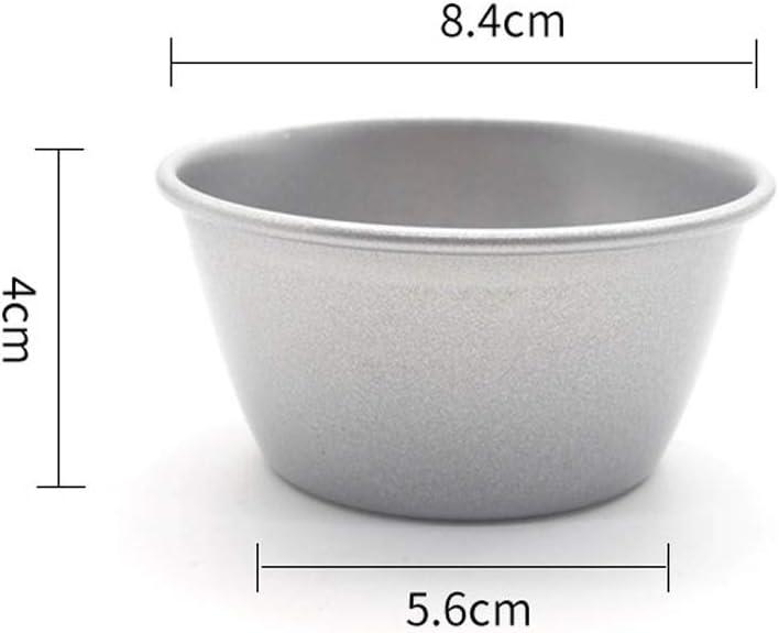Pudding Cups Raspberry Strange Pot CANDeal Tienda Juego de Vasos de 6 Individuales Antiadherente popovers Chocolate Molten Pans Darioles moldes Chocolate Molde tama/ño 8 cm