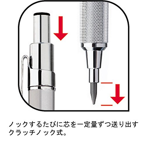Rotring 800 Lead Holder Clutch Knock System - 2 mm - Silver Body (japan import) by Rotring (Image #2)