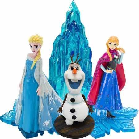 Penn Plax Frozen Characters Ice Castle Aquarium Ornament Set